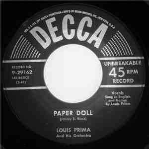 Louis Prima And His Orchestra - Paper Doll / Dummy Song download free